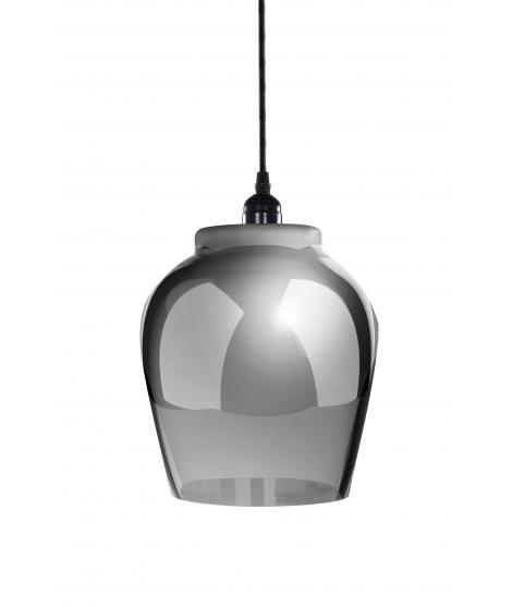 Lampe à suspension en verre gris