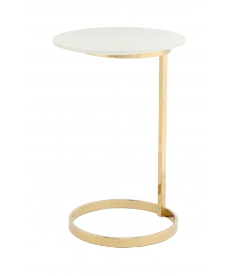 Table d'appoint Kasimir 525 or / blanc